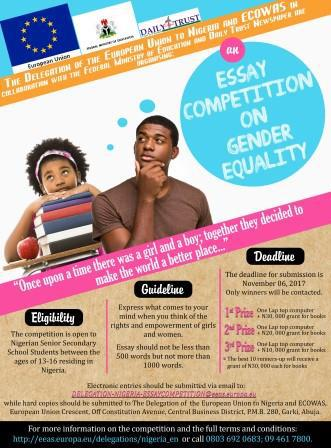 Essay Competition on Gender Equality