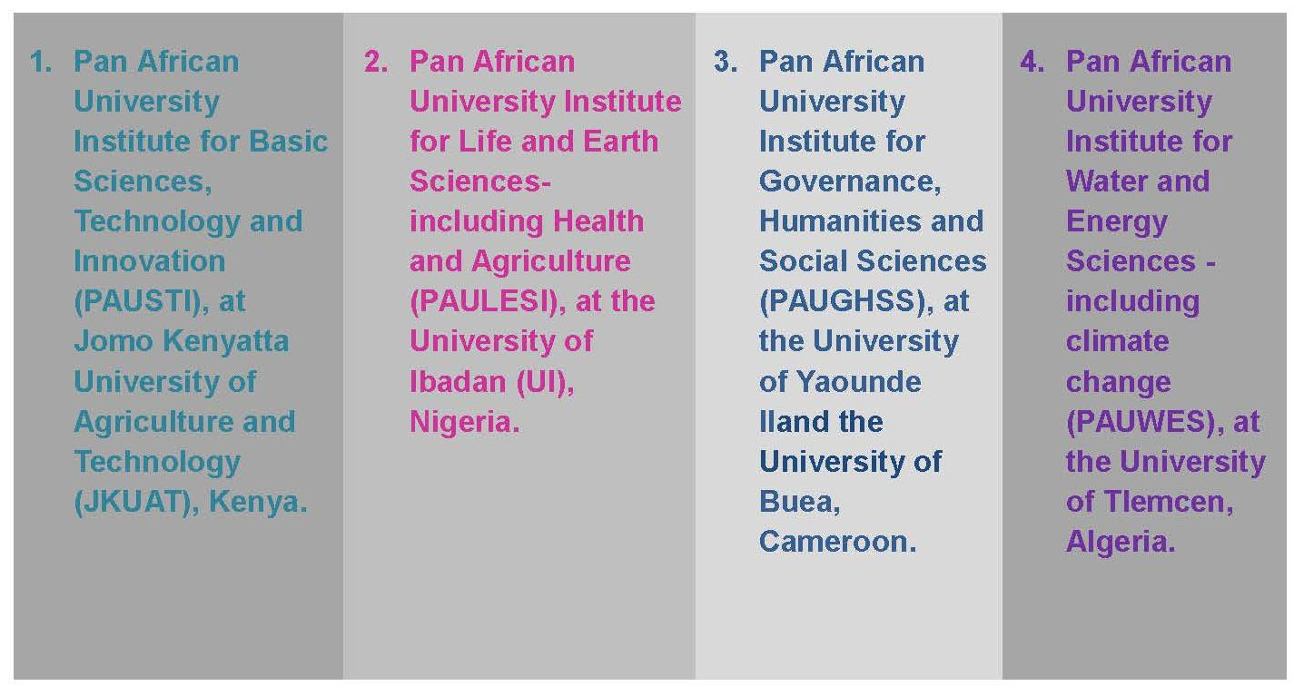 Pan African (African Union) University Scholarships for Africans