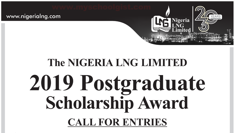 Nigeria Liquefied Natural Gas (NLNG) Overseas Postgraduate Scholarship