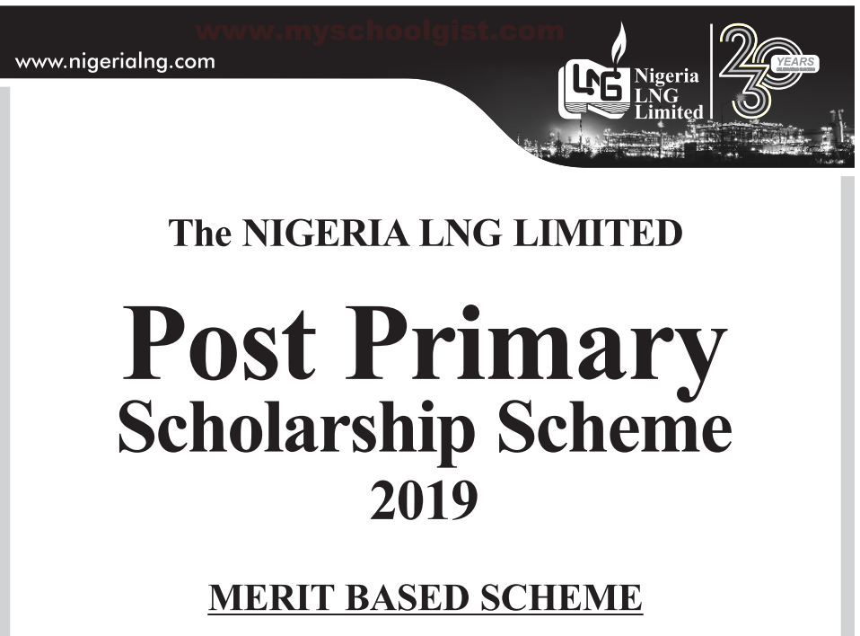 Nigeria Liquefied Natural Gas (NLNG) Post-Primary Scholarship