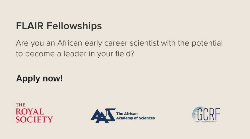 Future Leaders – African Independent Researchers (FLAIR) Fellowships