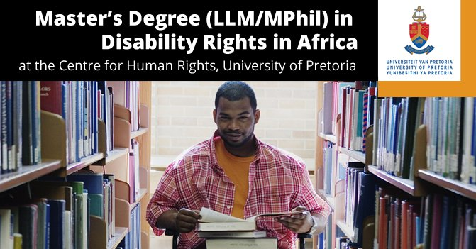 Scholarship- Master's Degree in Disability Rights in Africa