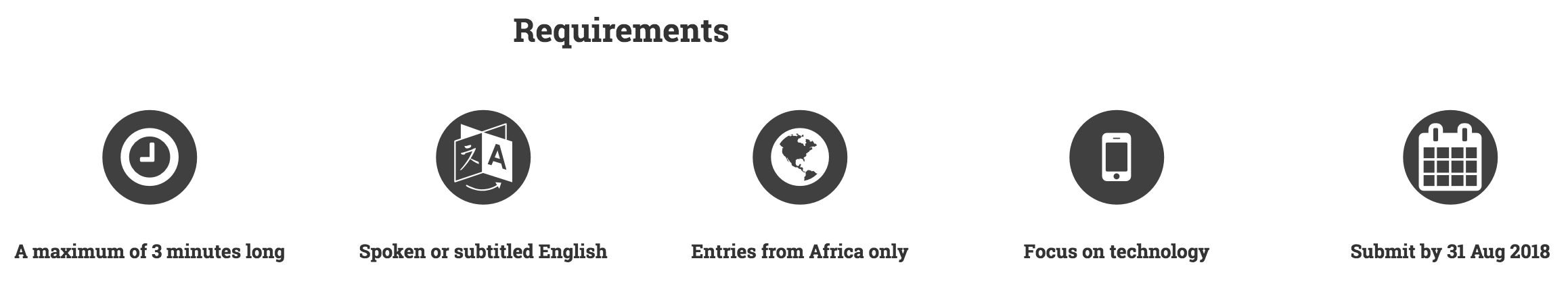 tvebiomovies African Tech for Good Competition Eligibility & Requirements.