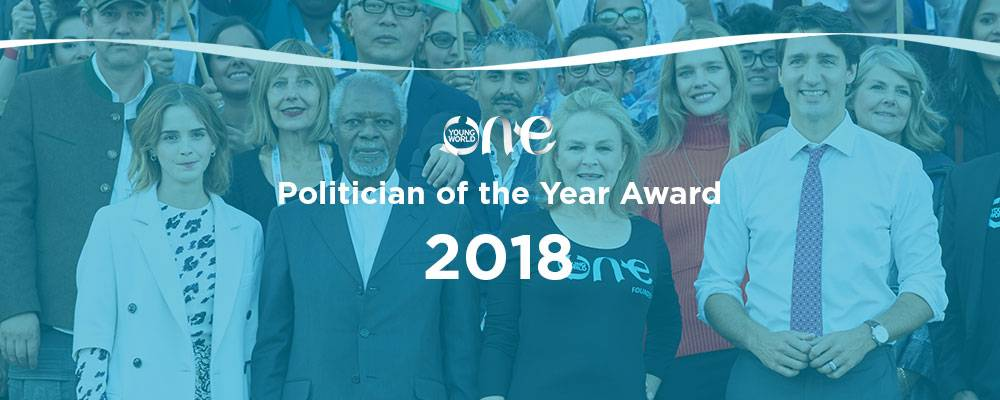 One Young World's Politician of the Year Award