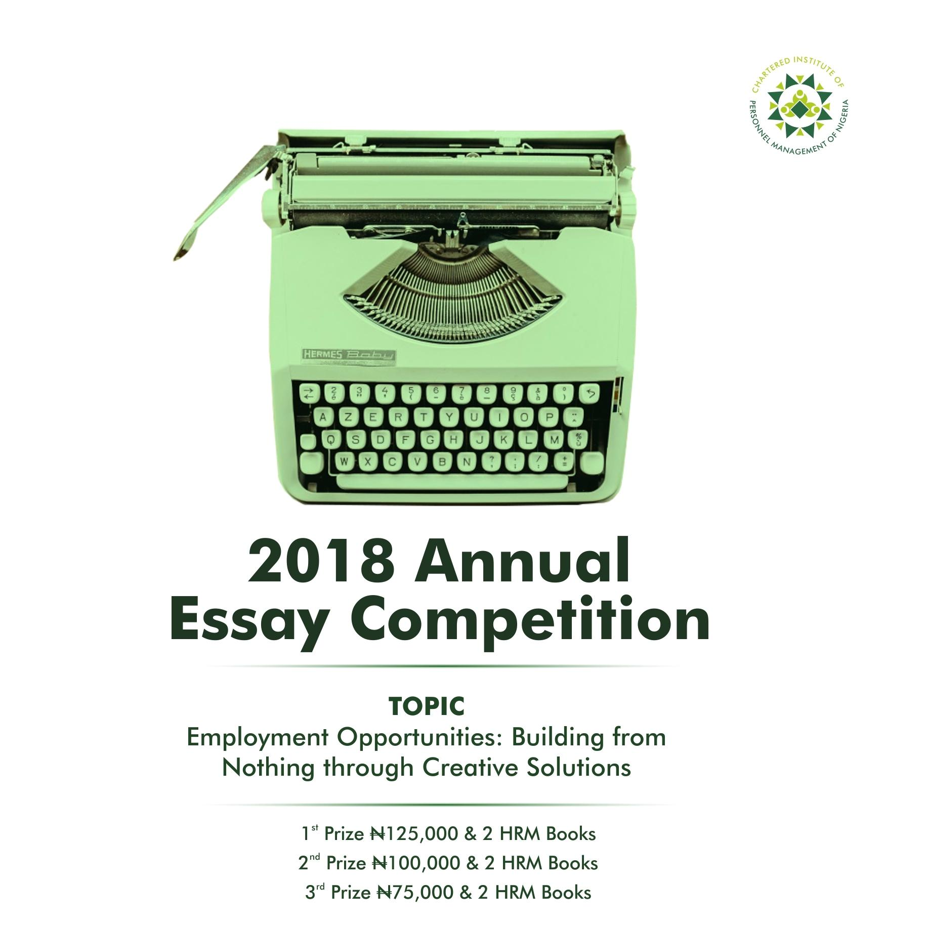 CIPM Annual Essay Competition 2018