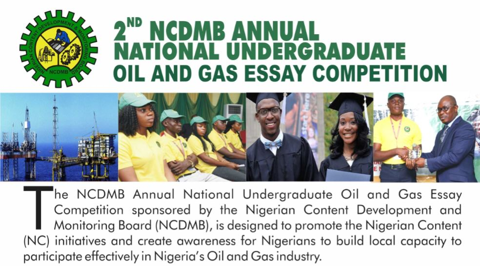 NCDMB Annual Undergraduate Oil & Gas Essay Competition 2018