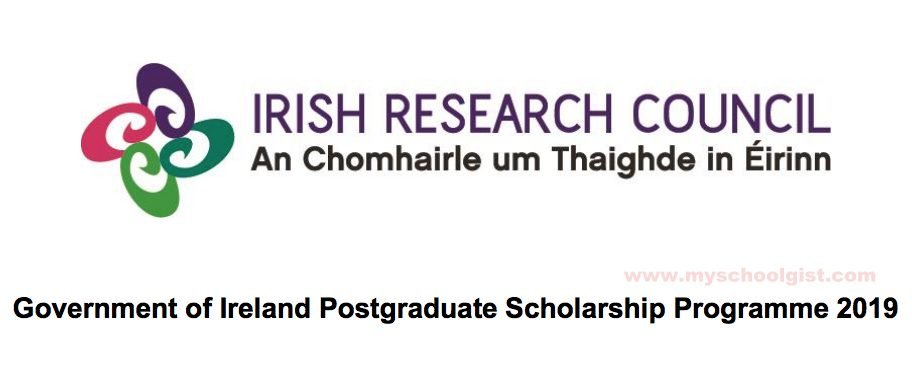 Government of Ireland Postgraduate Scholarship Programme 2019