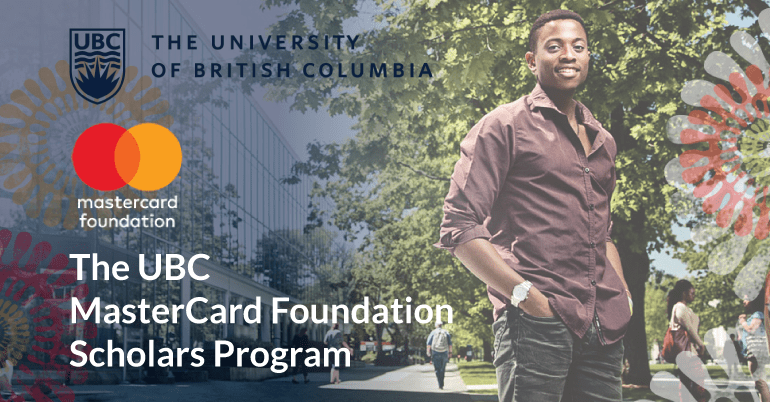 University of British Columbia (UBC) Mastercard Foundation Scholars Program