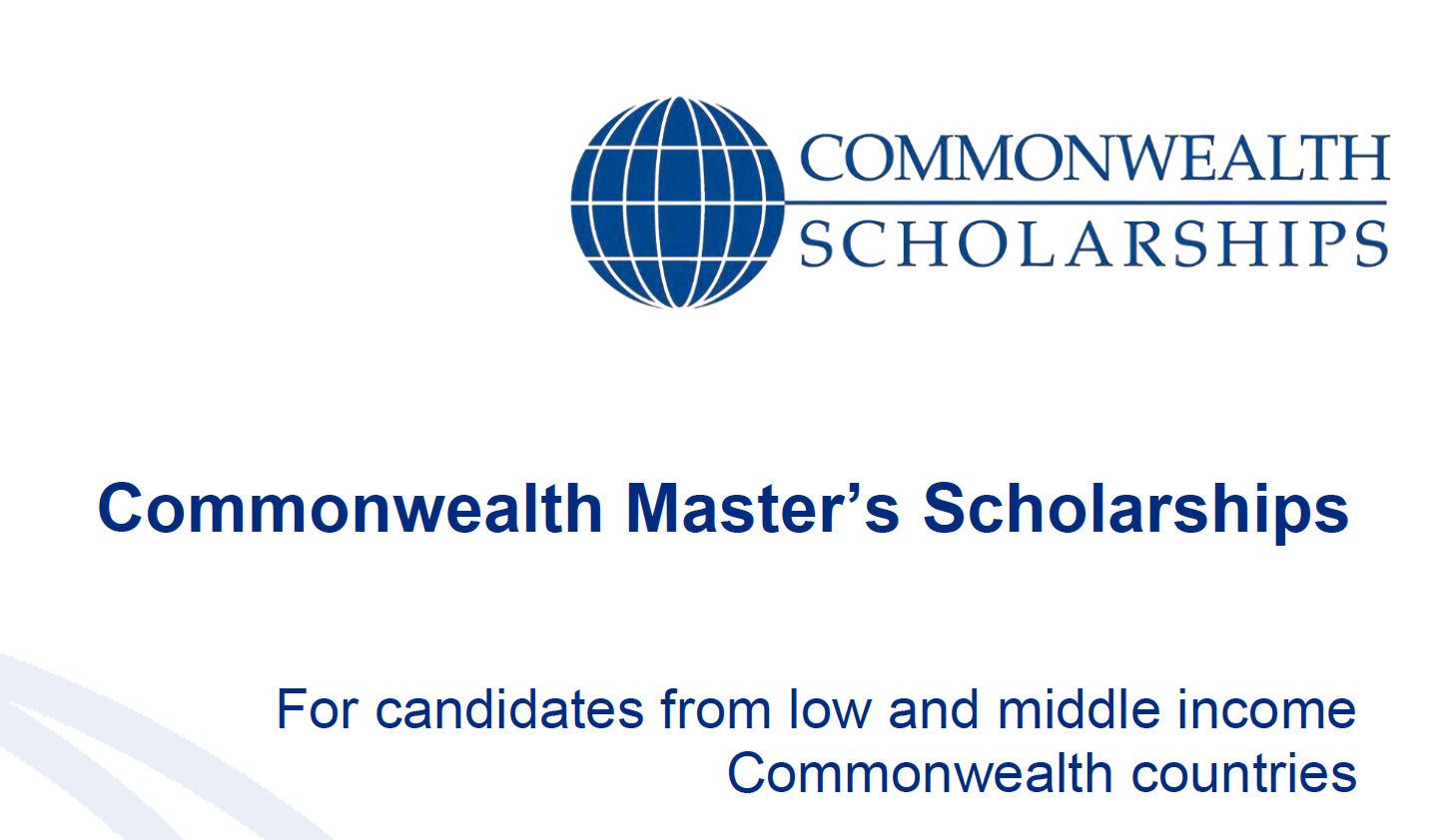 Commonwealth Master's Scholarships