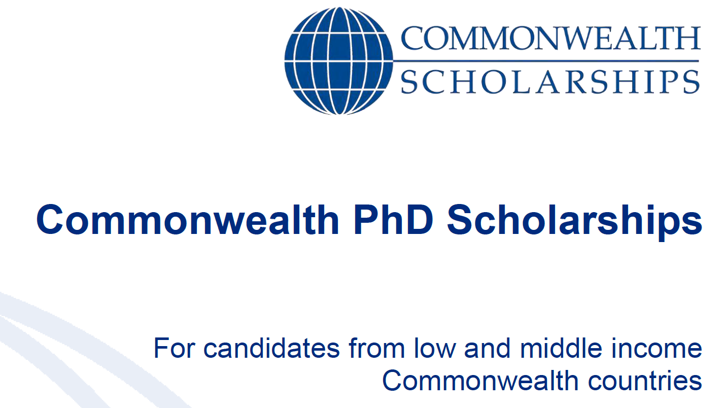 Commonwealth PhD Scholarships 2019