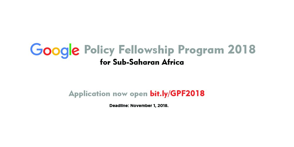 Google Policy Fellowship for Sub-Saharan Africa