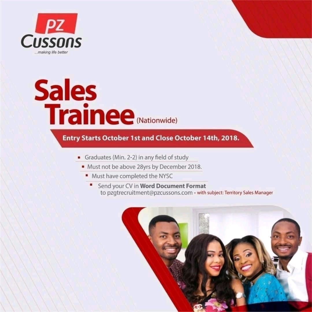 PZ Cussons Sales Trainee Program