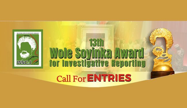 Wole Soyinka 13th Award for Investigative Reporting