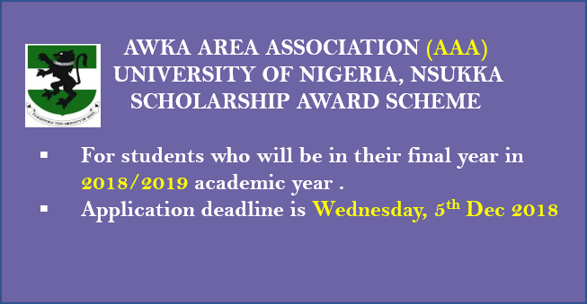 Awka Area Association (AAA) Scholarship