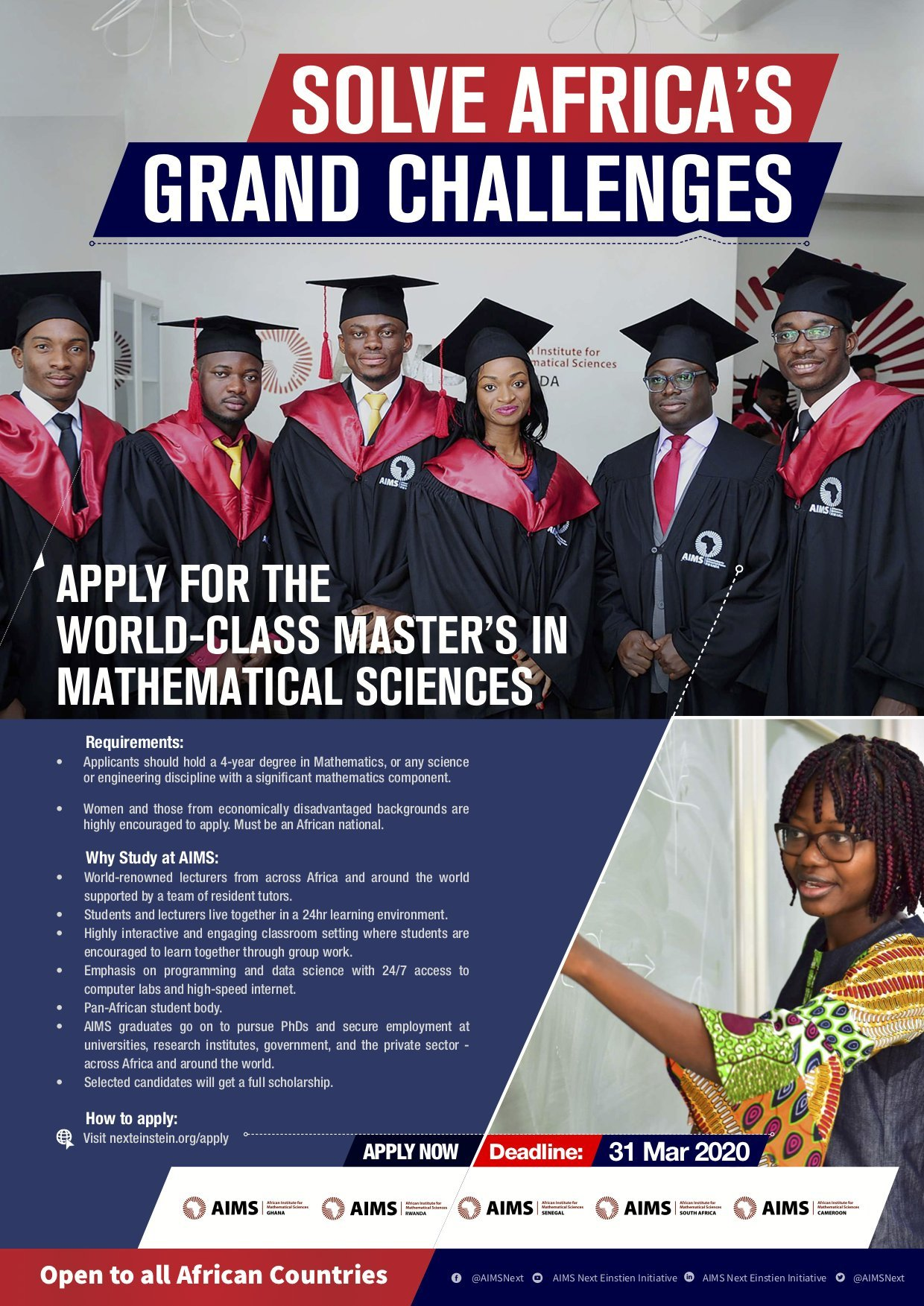 AIMS Master's Degree in Mathematical Sciences