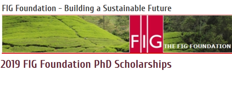 FIG Foundation PhD Scholarships