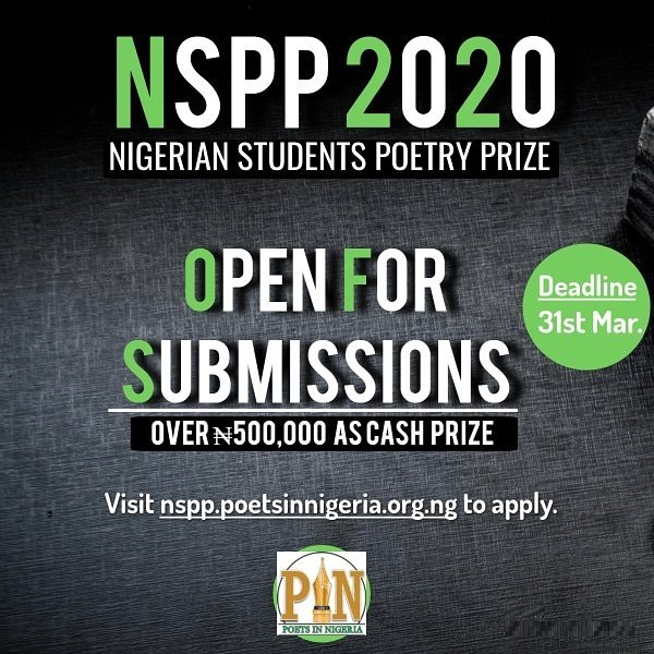 Nigerian Students Poetry Prize (NSPP) 2020