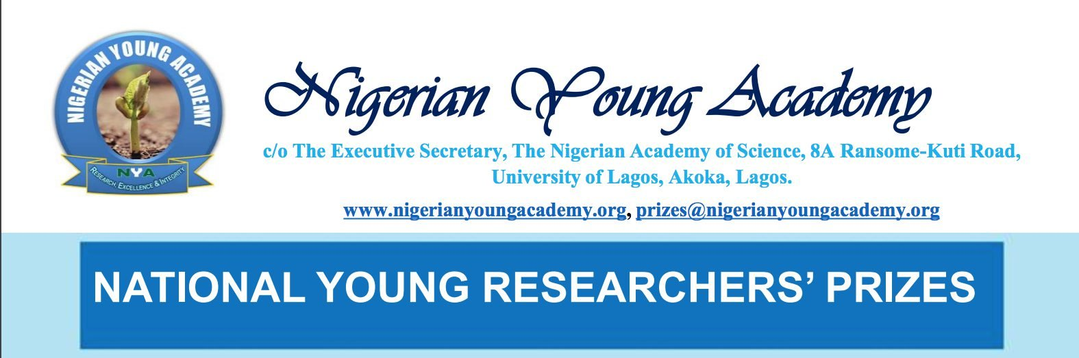 Nigerian Young Academy (NYA) National Young Researcher's Prizes