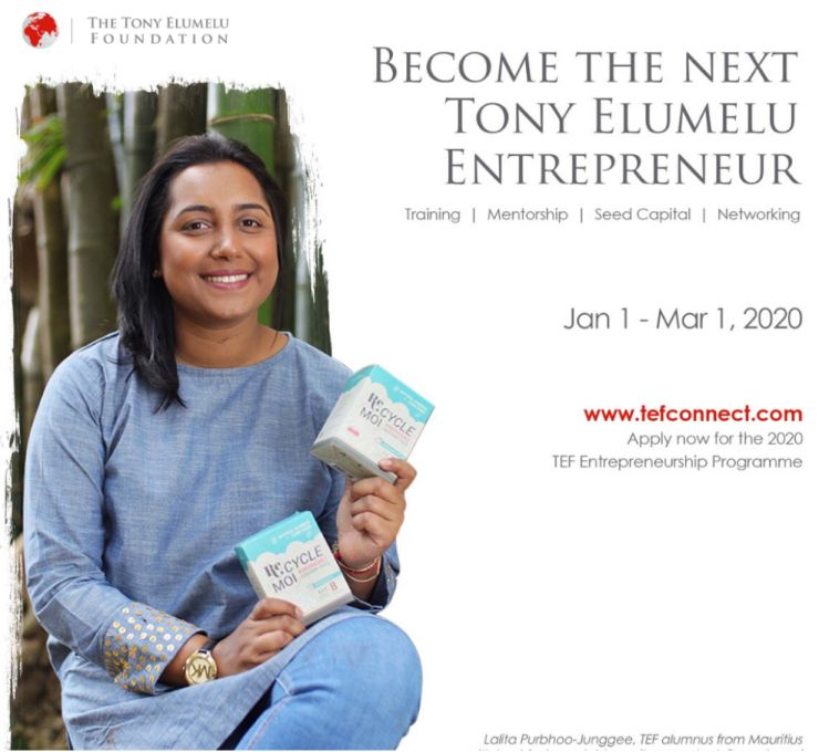 Tony Elumelu Foundation (TEF) Entrepreneurship Programme 2020