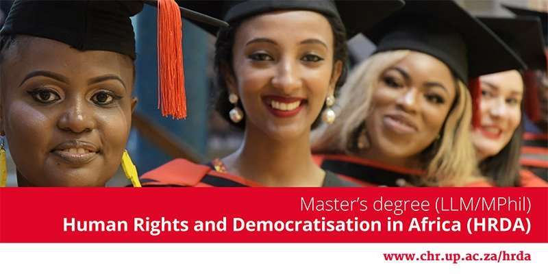 Scholarships for Master's in Human Rights and Democratisation in Africa at University of Pretoria