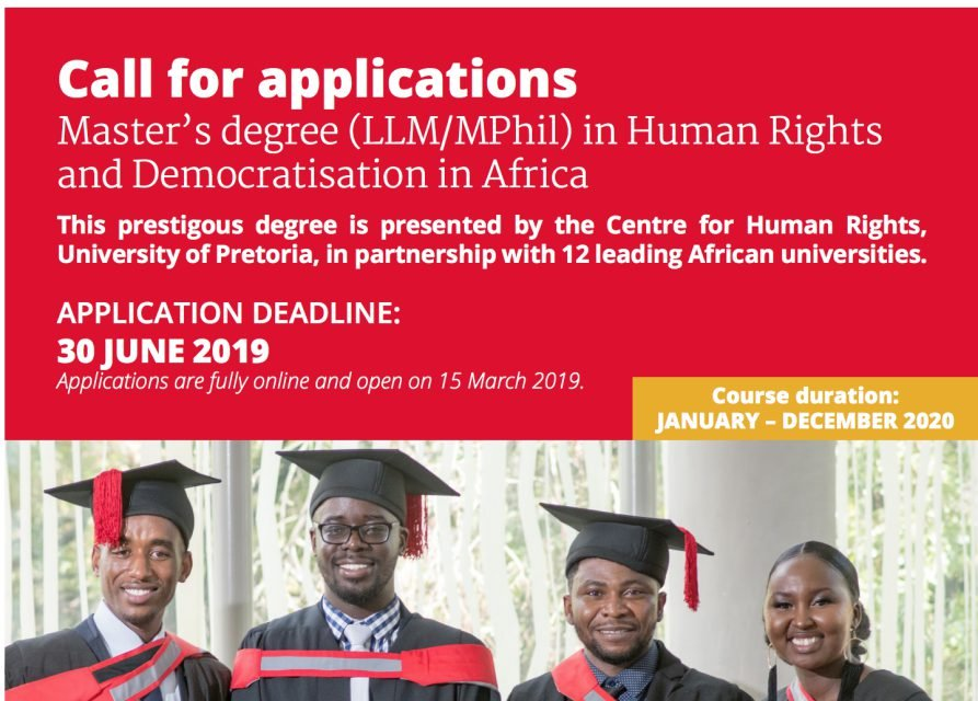 University of Pretoria Master's in Human Rights and Democratisation in Africa Scholarship