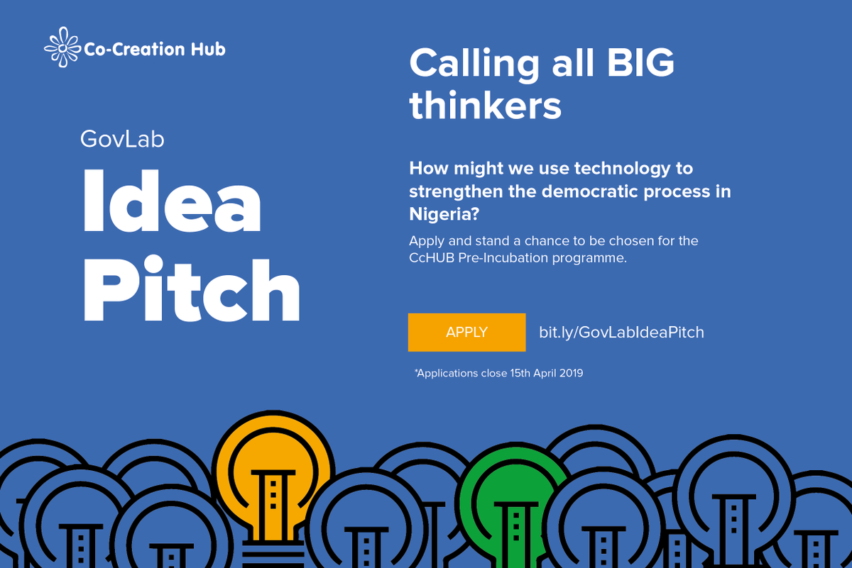 CcHub GovLab Idea Pitch