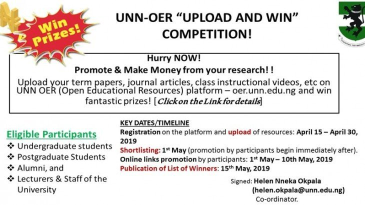 UNN-OER 'Upload and Win' Competition