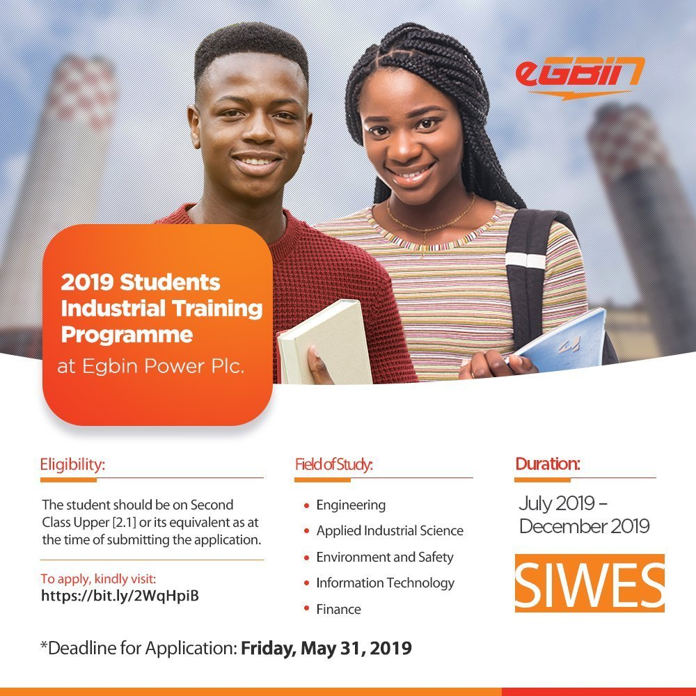 Egbin Power Students Industrial Training Programme (SIWES)