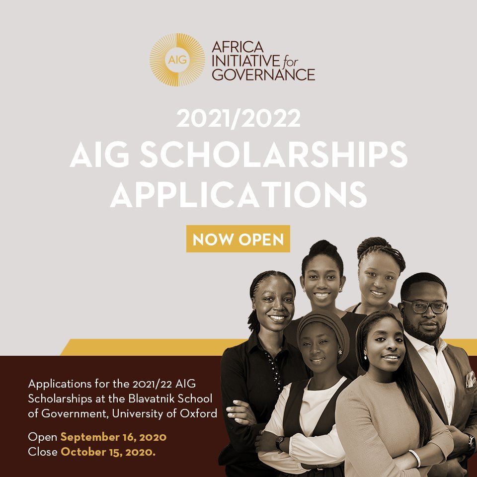 Africa Initiative for Governance (AIG) Scholarships