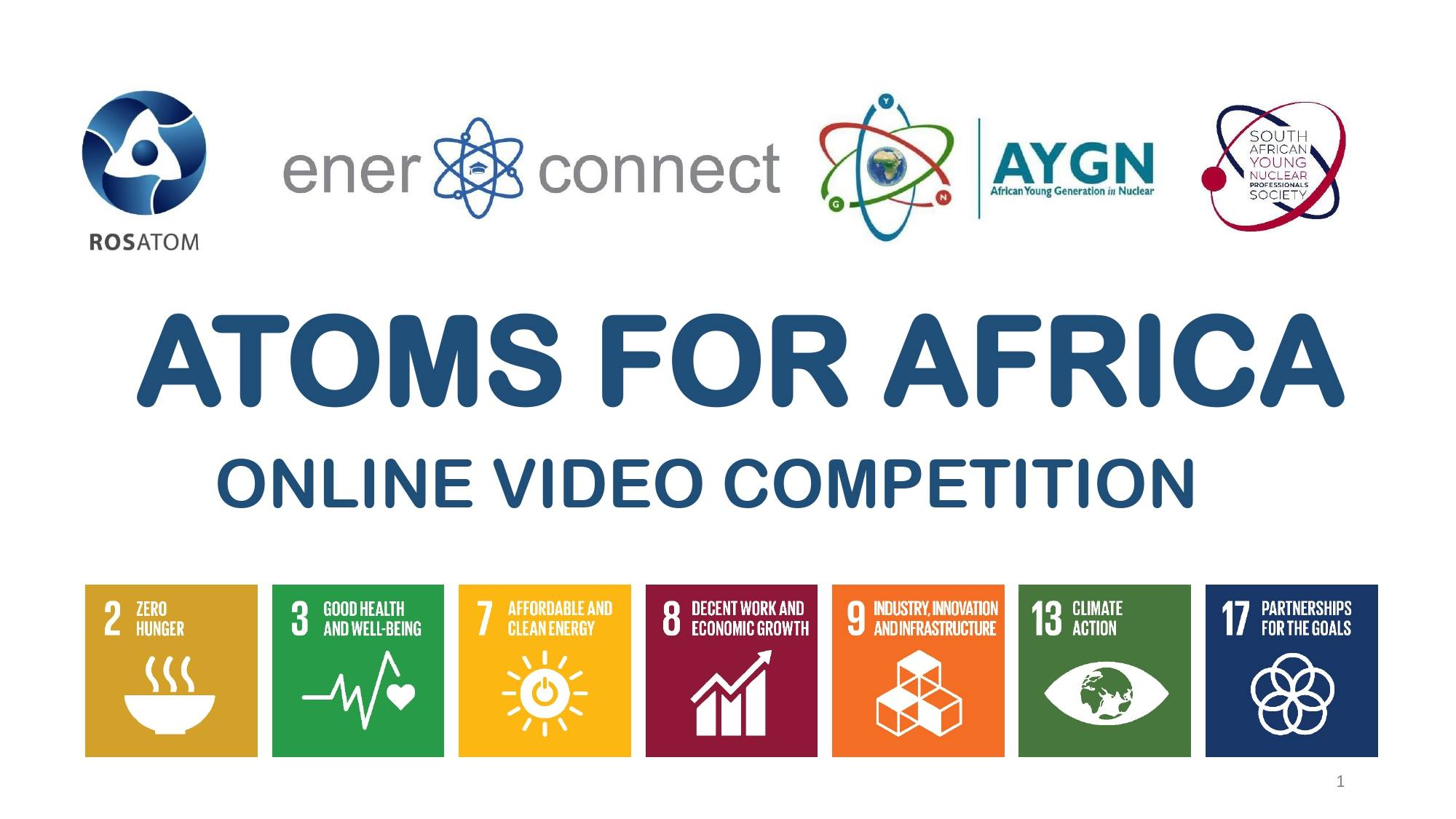 "Rosatom ""Atoms for Africa"" Online Video Competition"