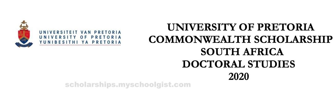 University of Pretoria Commonwealth Scholarship