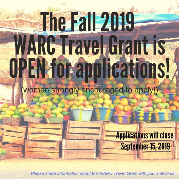 West African Research Center (WARC) Travel Grant