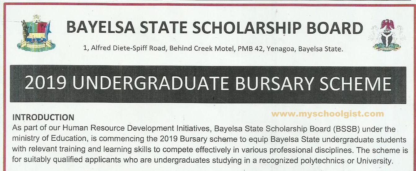 Bayelsa State Bursary application form