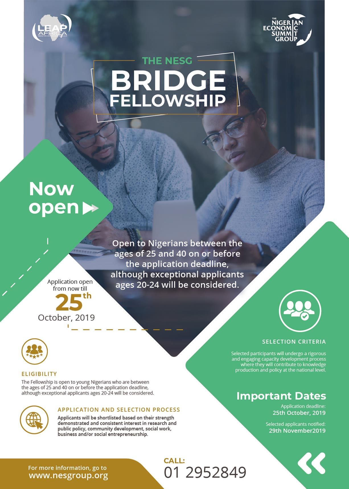 Nigerian Economic Summit Group (NESG) Bridge Fellowship