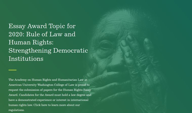 American University Washington College of Law Human Rights Essay Award