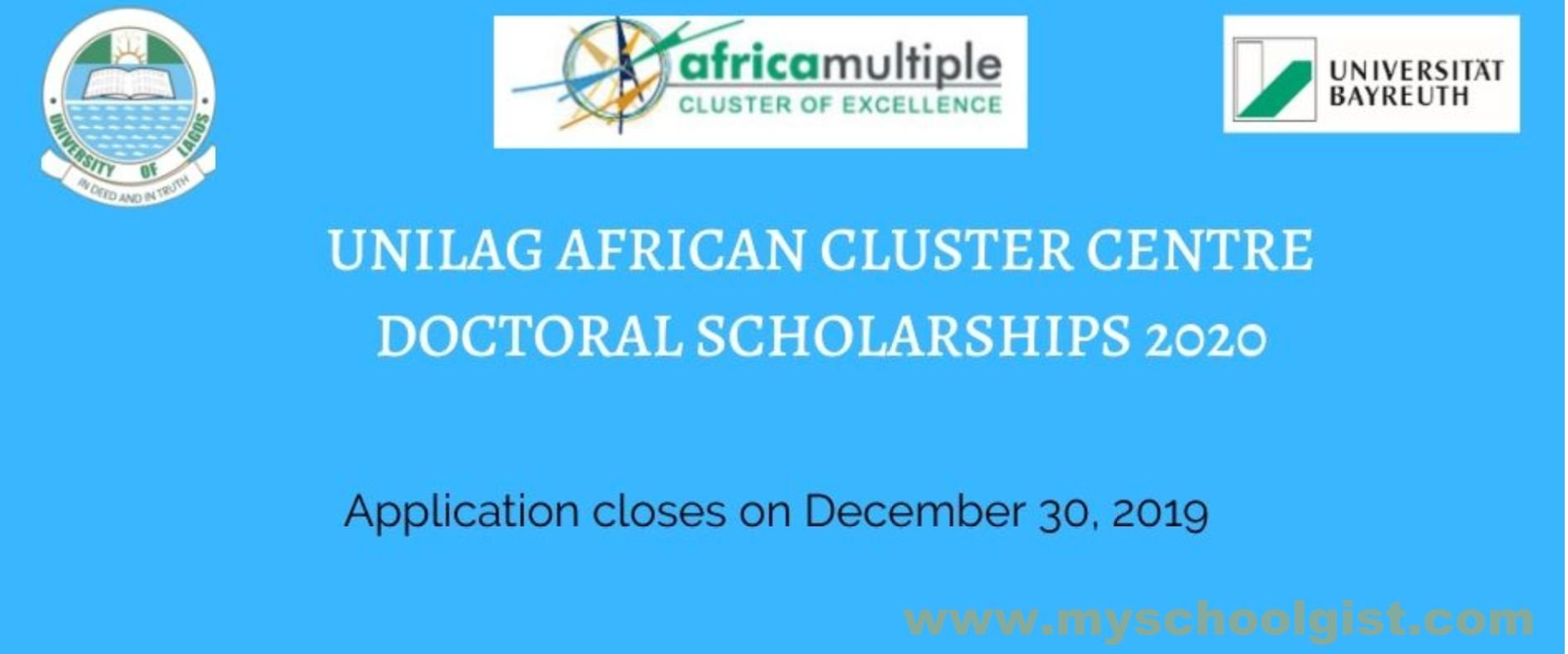 Lagos African Cluster Centre (ACC) Scholarship 2020