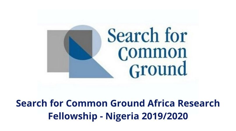 Search for Common Ground Africa Research Fellowship