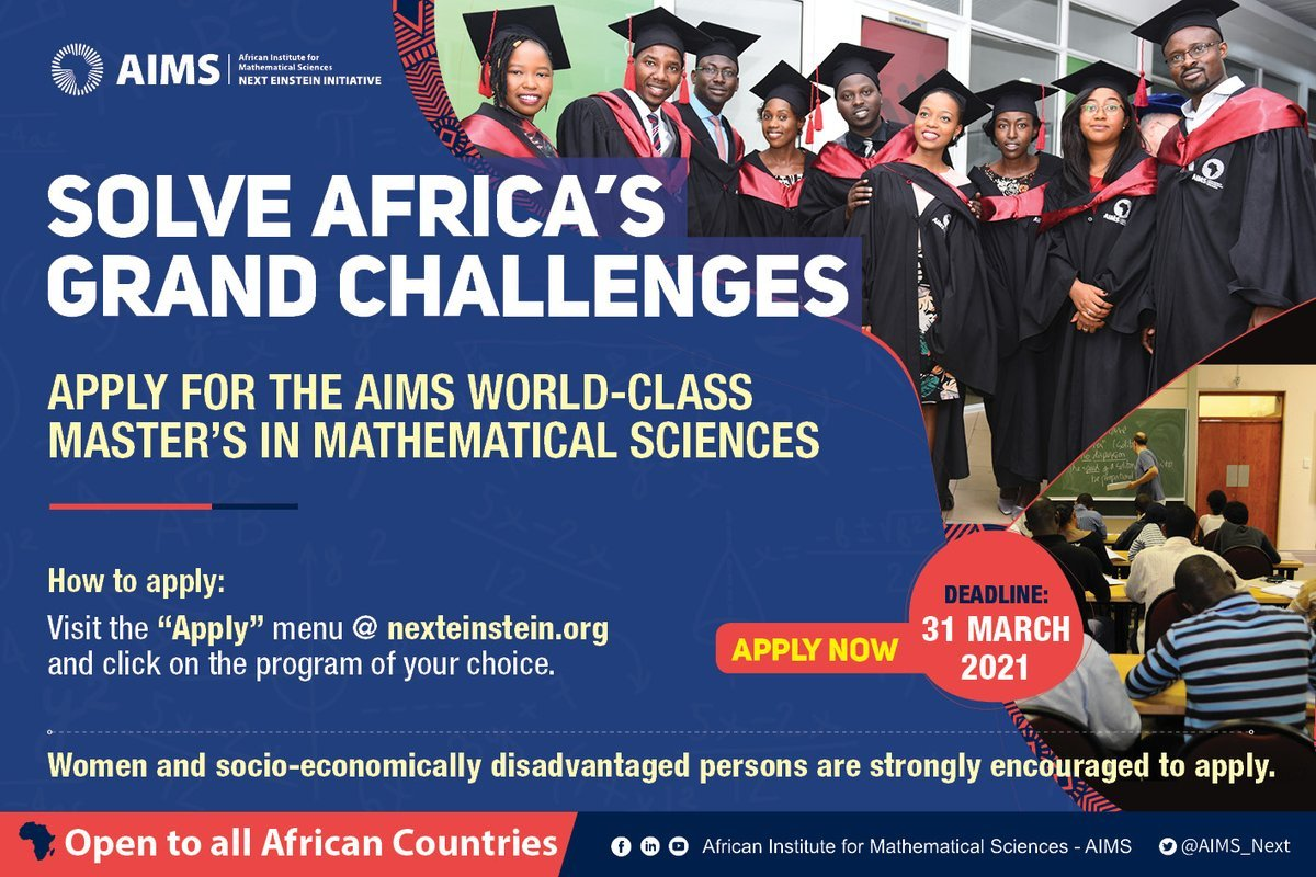 AIMS Structured Master's Program in Mathematical Sciences 2021