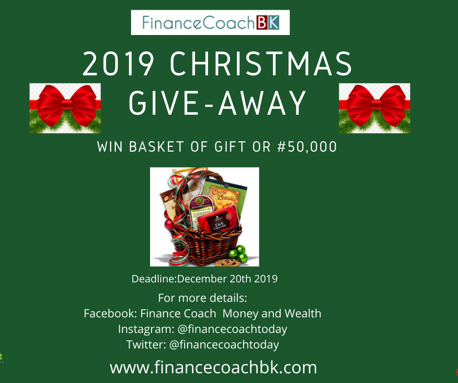 FinanceCoach Christmas Giveaway Contest