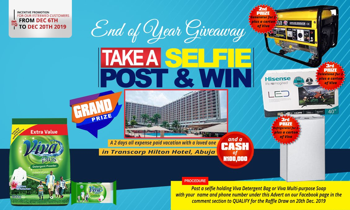 Viva Detergent End of the Year Selfie Giveaway
