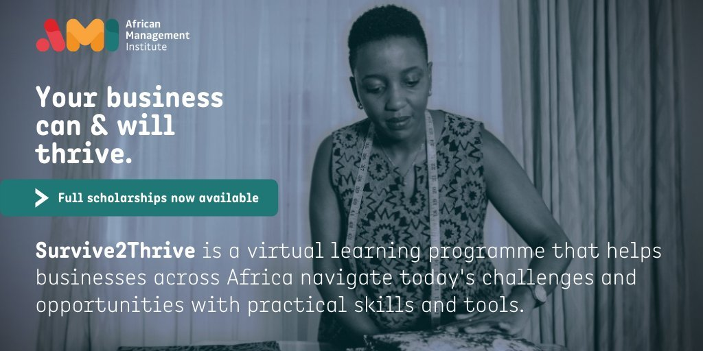 African Management Institute (AMI) Virtual Survive to Thrive Programme