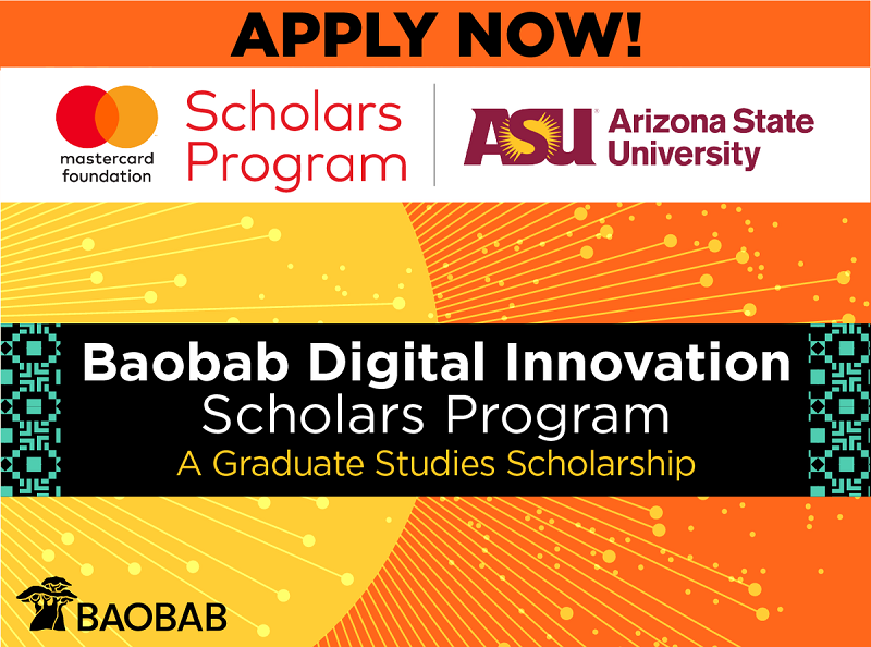 Mastercard Foundation:Arizona State University Baobab Digital Innovation Scholarship