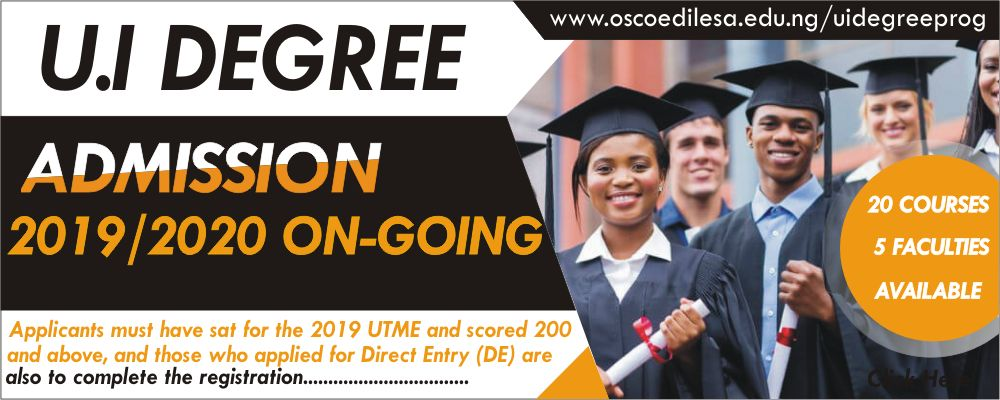 OSCOED-UI Degree Post UTME Form