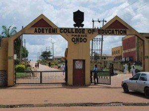 Adeyemi College of Education Part-time NCE Sandwich admission form