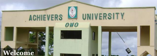 Achievers university owo Degree Programmes and requirements
