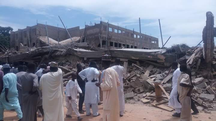 Kano University of Technology collapsed building