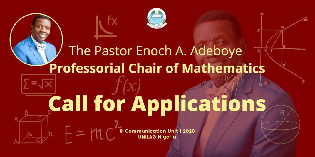 Vacancy for The Pastor Enoch A. Adeboye Professorial Chair of Mathematics