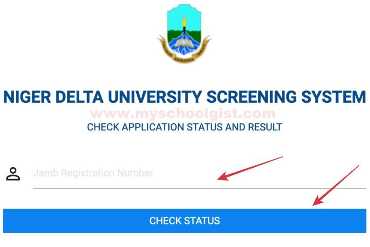 how to check ndu post UTME result