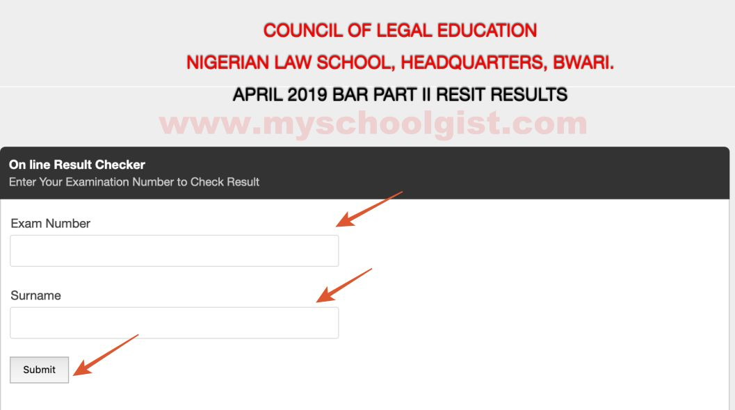 How to Check Nigerian Law School Resit Results