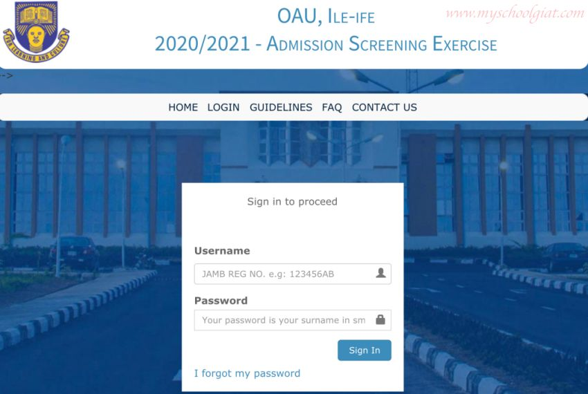 How to Check OAU Post UTME Result 2021